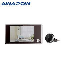 Sonnette vidéo œil de chat, appareil photo numérique, Angle de 3.5 degrés, visionneuse vidéo, sonnette d'extérieur, 120 pouces
