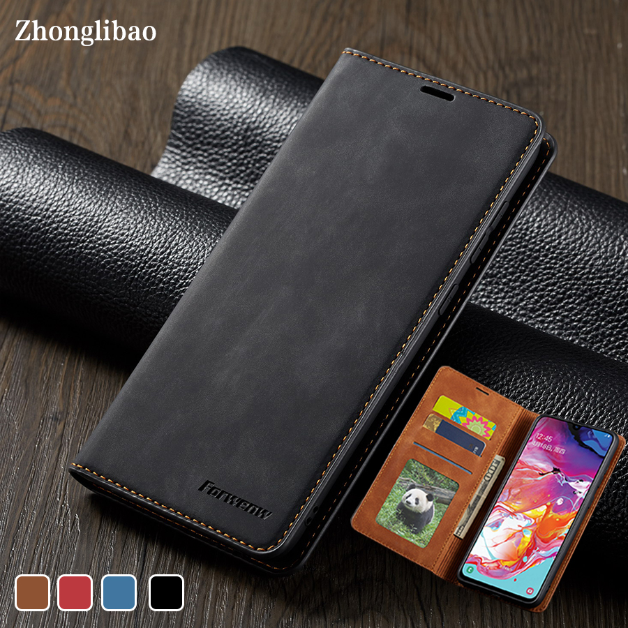 Luxury Wallet <font><b>Flip</b></font> <font><b>Leather</b></font> <font><b>Case</b></font> for <font><b>Samsung</b></font> Galaxy A70 A50 A30 A60 <font><b>A40</b></font> A20 A10 A20E Magnetic Stand Card Holder Book Cover A 50 image