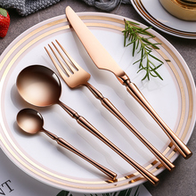 Cutlery Set 304 Stainless Steel Western Tableware Eating Steak Knife and Fork Spoon Household Dinnerware Set