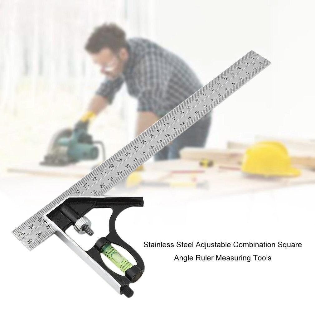 Нержавеющая сталь Регулируемая комбинация квадратный угол линейки измерительные инструменты -- M25