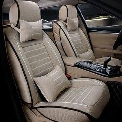 Di alta qualità di lino seggiolino auto Universale copre Per Mitsubishi ASX Lancer SPORT EX Zinger FORTIS Outlander accessori car styling