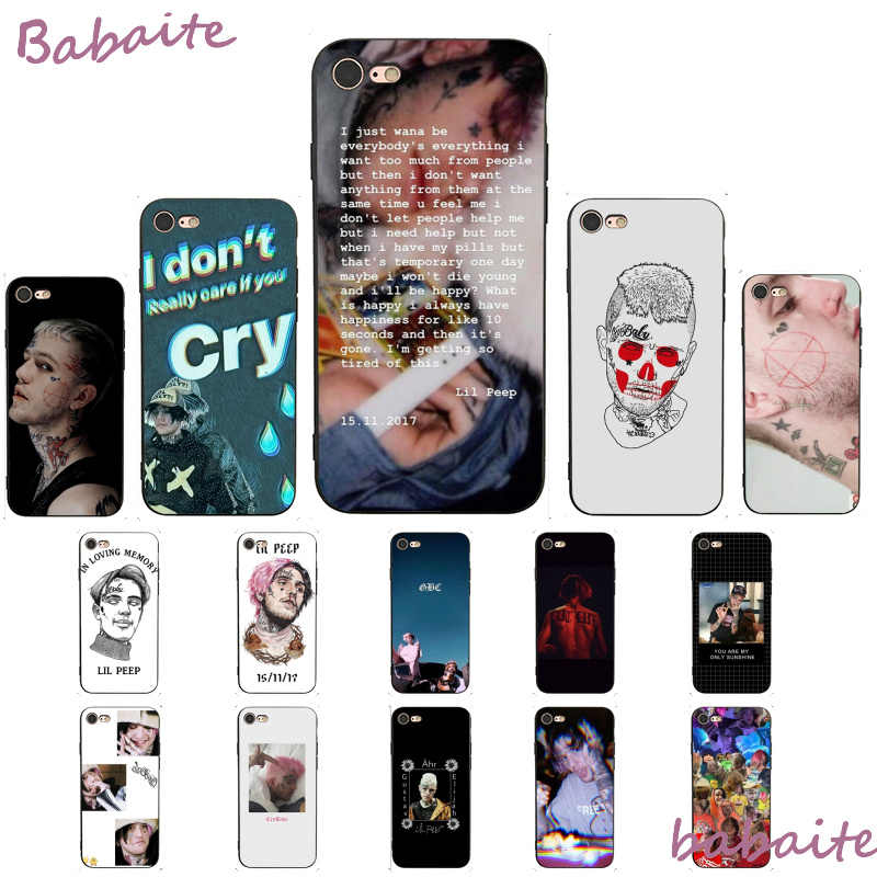 Babaite Lil Peep Lil Bo Peep Soft Silicone TPU Phone Cover For iPhone 8 7 6 6S Plus X XS MAX 5 5S SE XR 11 11PRO Pro max Mobile