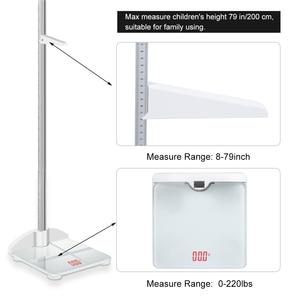 Image 4 - Chiều cao Cần Stadiometer Có Thể Gập Lại Con Thước Đo Chiều Cao & Quy Mô 2 trong 1, Measuare 79 Inch & 200lbs