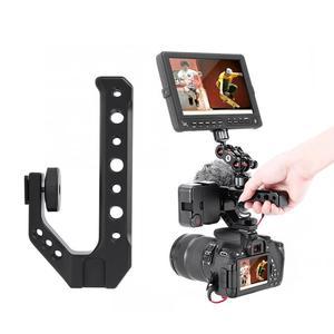 Image 3 - UURIG R005 Universale Hand Grip Maniglia Della Telecamera con Fredda Shoe Mount 1/4 e 3/8 Fori per il Monitor Microfono luce di riempimento