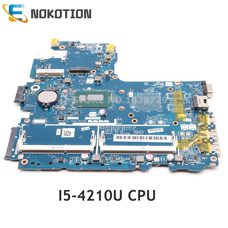 NOKOTION LA-B181P 768146-601 768146-001 768146-501 Laptop motherboard For HP Probook <font><b>450</b></font> G2 SR1EF I5-4210U 1.7G CPU DDR3L image
