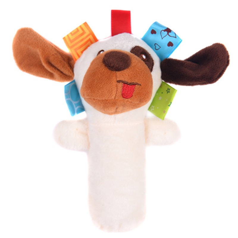 2019  Baby Rattles Mobiles BB Sticks Soft Cow Plush Doll Crib Bed Hanging Hand Catches Animal Toy Doll Kids Toy