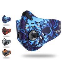 Filtro de carvão ativado à prova de poeira ciclismo máscara facial anti-poluição ao ar livre correndo máscara protetor facial alta altitude treinamento máscara