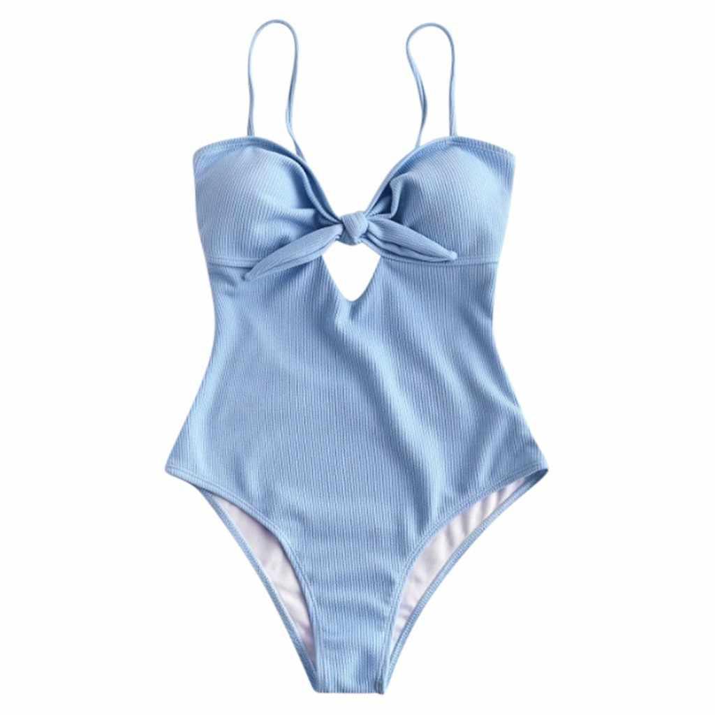 KANCOOLD Costume Da Bagno Delle Donne di strada Solido Bikini a vita Alta di Un Pezzo Push-Up Costumi Da Bagno di Nuoto piscina Mare costumi da bagno delle donne 2020JAN26