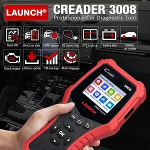 Image 2 - Uruchom CR3008 skaner samochodowy bateria OBD narzędzie diagnostyczne do samochodów czytnik kodów skaner OBD2 OBDII OBD silnik kw850 Creader 3008