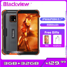 Blackview bv4900 5580mah 3gb 32gb ip68 impermeável smartphone 5.7 android android android 10.0 nfc áspero telefone móvel
