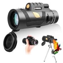 12X50 HD Monocular Telescope FMC BAK4 Prism Binoculars with Smartphone Holder&Tripod for Hunting Hiking Traveling Bird Watching