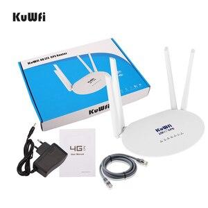 Image 5 - Routeur sans fil KuWfi 4G LTE CPE routeur sans fil 300Mbps routeur wifi 3G/4G LTE avec emplacement pour carte Sim et antenne externe 4 pièces 32 utilisateurs