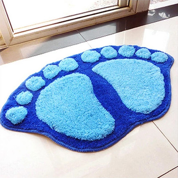 Odcisk stopy maty do kąpieli antypoślizgowy dywan łazienkowy mata wc dywanik łazienkowy dywaniki z mikrofibry Mini maty akcesoria łazienkowe tanie i dobre opinie elenxs CN (pochodzenie) Other cartoon Nowoczesne Włóknina Łazienka 58 5 X38 5cm
