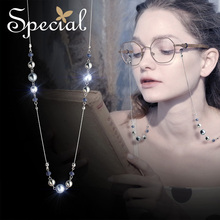 The SPECIAL New Fashion euramerican trend long skin-lined thin necklace glasses chain Downton home,S2044N