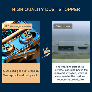 Image 5 - True Wireless Bluetooth 5.0 Earphone F9 TWS High Fidelity Stereo Sound Headset Sport Running Haedphones With Charging Box