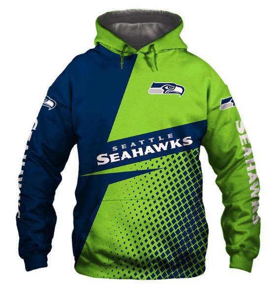 Usa Size Autumn Male Casual Hoodies Seattle 3d Print Football Loose Sweatshirts Seahawks Men Hip Hop Pullover Fashion Streetwear