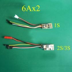1PC Dual Propeller Mini ESC 1S 2 S/3 S 2CH Eine Möglichkeit Gebürstet Wsr 6Ax2 Gemischt control Speed Controller für Kleine Boot/Flugzeug Modell