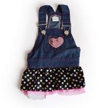 Summer Pet Dog Costume Denim Dress Sleeveless Soft Comfortable Fashion Shirt Loose Casual Cute Clothes