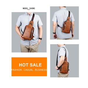 Image 3 - Celinv Koilm Men Crossbody Bag Big Size Daily Chest Bag High Quality Large Capacity Split Leather Daypacks Sling Bag For iPad