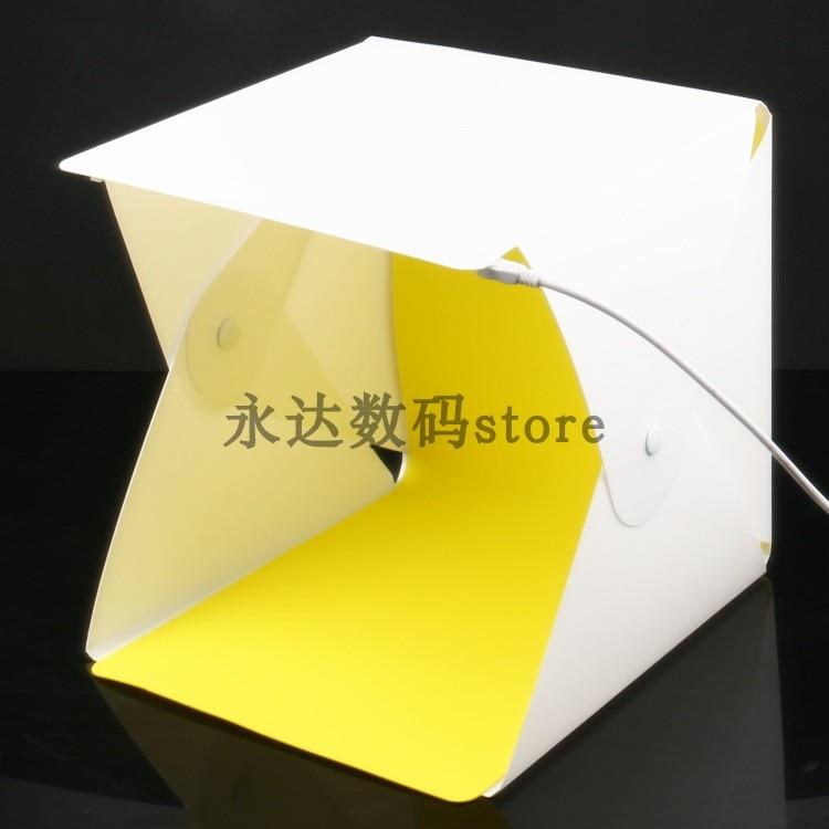 Mini 8 ''Tragbare Falten USB LED Fotografie Studio Softbox Licht Zelt Leuchtkasten w/Hintergründe für Smartphone Kamera DSLR foto