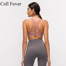 цена на Sports Bras for Women 2019 Crossback Sports Bra Wireless Yoga Fitness Vest High Impact Activewear Padded Push Up Racerback Tops