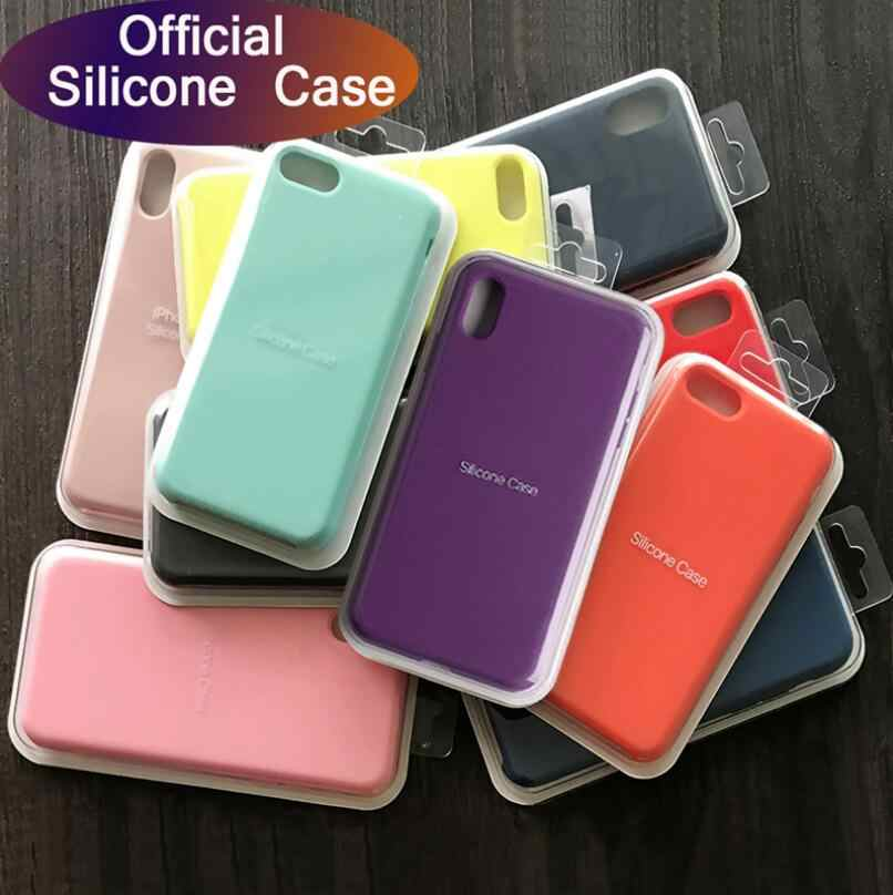 Caso de silicone de luxo para iphone 8 7 6 s 6 plus 11 pro x xs max xr caso na apple iphone 7 8 plus x 10 capa oficial original
