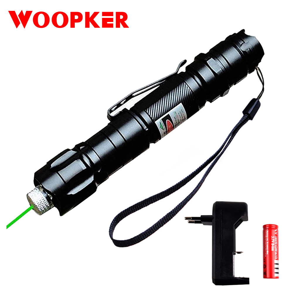 Stylo Laser 1000m 5mW vert Lasers vue militaire réglable Focus Laser stylo avec batterie et chargeur