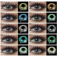 Color Natural lente ojos 2 uds anual de lentes de contacto de Color para los ojos belleza lentes de contacto ojo Color cosmético de los ojos