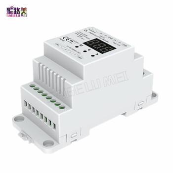 DL DC5V-24V DMX512 do 4CH 0-10V dekoder 0-10V LED ściemniacz DMX 512 stosunek sygnału do 0-10V sygnał RGB kontroler RGBW 4 kanałowy tanie i dobre opinie SAGE LU MEI CN (pochodzenie) RGB LED Controller DMX512 to 4CH 0-10V 2year RGB led strip ROHS 5-24 v