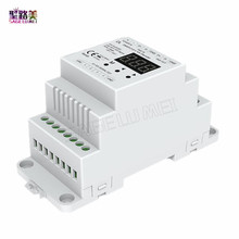 DL DC5V 24V DMX512 to 4CH 0 10V Decoder 0 10V LED Dimmer DMX 512 Signal to 0 10V Signal RGB/RGBW controller 4 Channel Dimmer