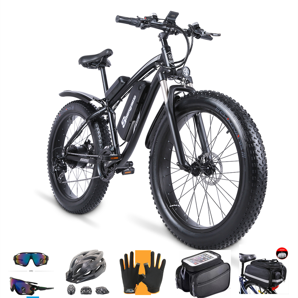 Электрический велосипед для зимы 1000W перерыва масла 48V 17ah Электрический велосипед увеличить 26 дюймов Жира Шины для мотоцикла или электровел...