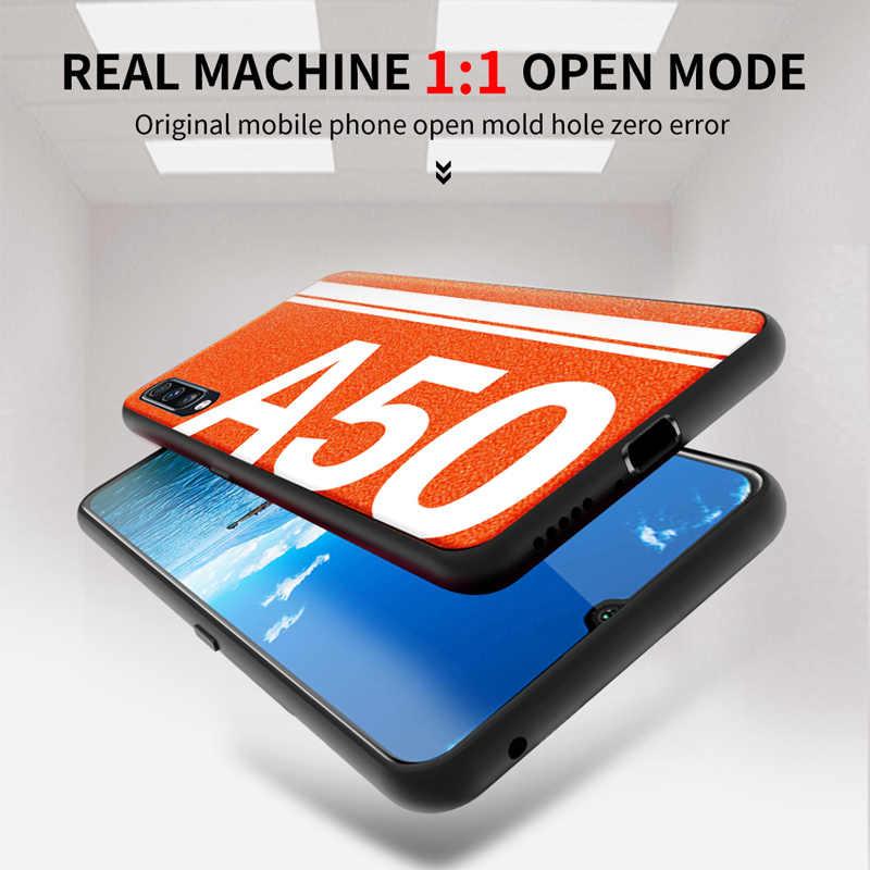Para Samsung A50 caso De cuero suave de silicona borde proteger de la contraportada para Samsung Galaxy A30 A50 A70 caso a prueba de golpes a prueba cubierta