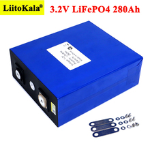 1pcs Liitokala 3.2V 280Ah LiFePO4 lithium battery 3.2v Lithium iron phosphate battery for 12V 24V battery inverter vehicle RV