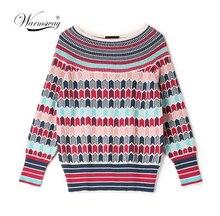 รันเวย์ Designer Wool Blend เสื้อกันหนาวและ Pullovers ผู้หญิงฤดูหนาวหญิงถักจัมเปอร์ 2020 คริสต์มาสเสื้อผ้า C 250