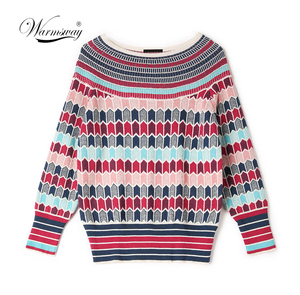 Image 1 - Runway Designer Wool Blend Warm Sweaters and Pullovers Women Winter Striped Female Knitted Jumper 2020 Christmas Clothing C 250