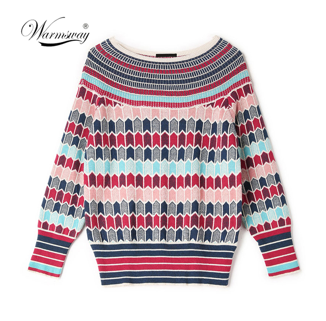 Runway Designer Wool Blend Warm Sweaters and Pullovers Women Winter Striped Female Knitted Jumper 2020 Christmas Clothing C 250