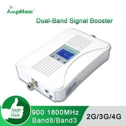 Wzmacniacz sygnału wzmacniacz sygnału GSM 2G 3G 4G wzmacniacz sygnału dwuzakresowy wzmacniacz sygnału komórkowego LTE GSM DCS 900 1800 + wyświetlacz LCD