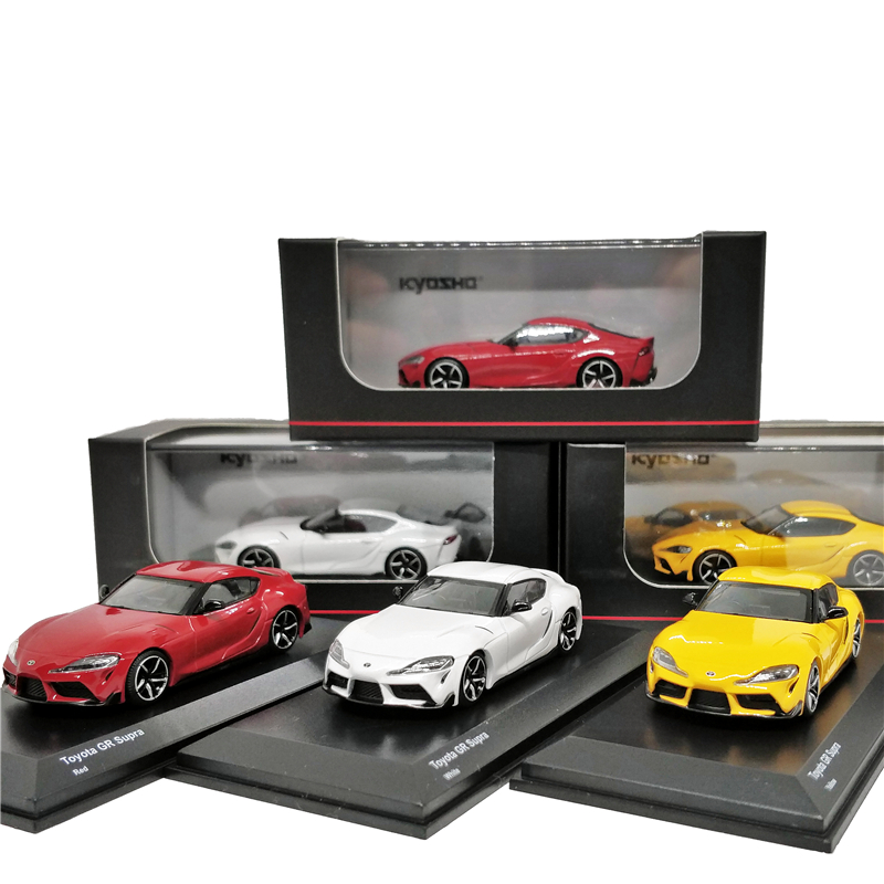 Kyosho 1:64 Toyota GR Supra Red/White/Yellow Diecast Model Car