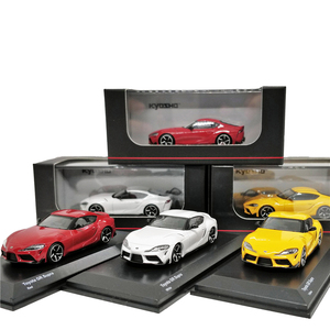 Image 1 - Kyosho 1:64 Toyota GR Supra Red/White/Yellow Diecast Model Car