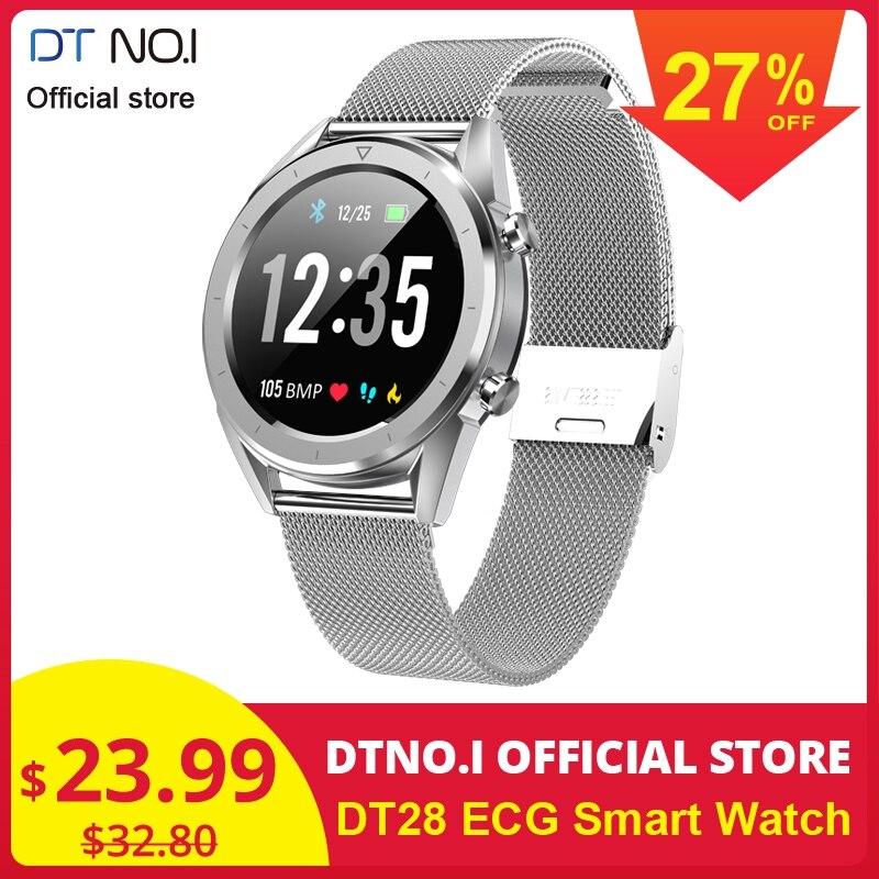 2019 Hot Sale DTNO. I DT N ° 1 DT28 ECG Inteligente Relógio Inteligente Smartwatch Atividade Rastreador De Fitness Relógio de Negócios de Moda Homens Q8