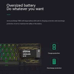 Image 5 - مفاتيح Anne Pro 2 Pro2 60% 61 مفاتيح NKRO بلوتوث 5.0 Type C RGB لوحة مفاتيح ميكانيكية للألعاب مفتاح كرز مفتاح Gateron مفتاح كايل