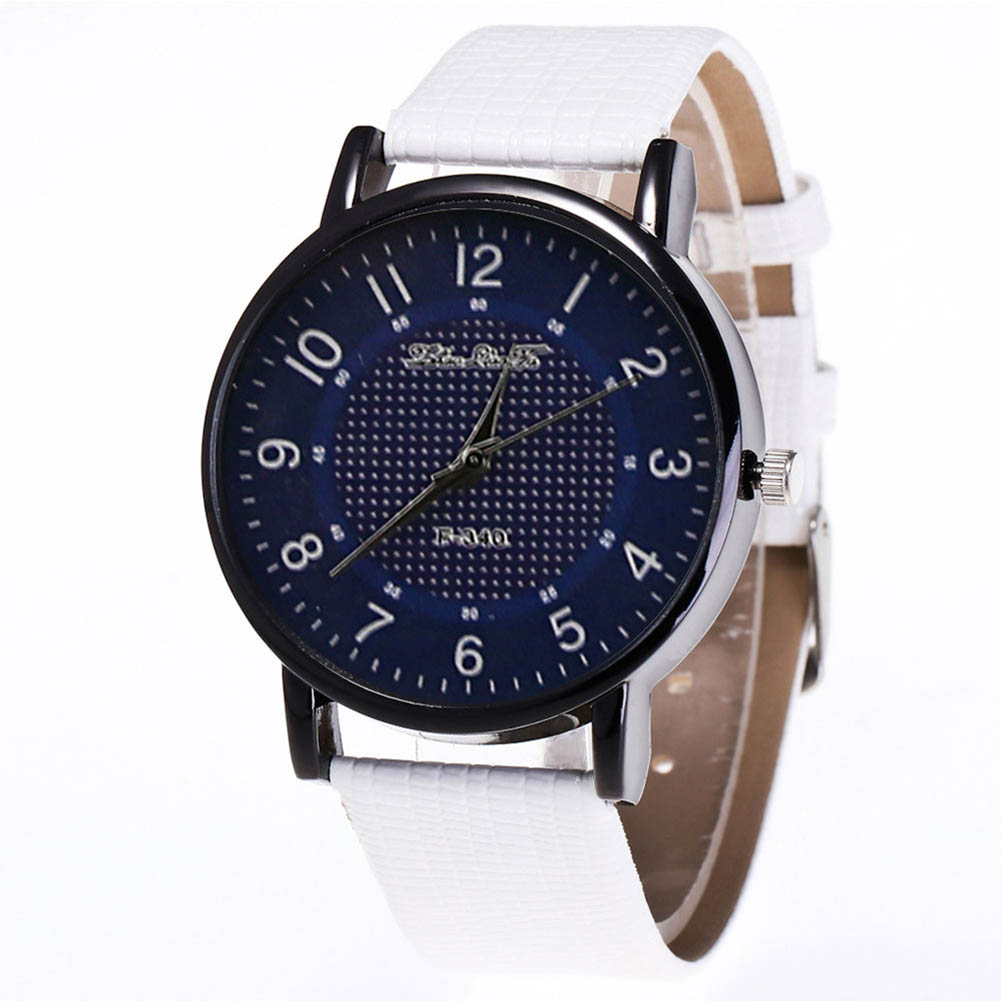 Fashion Quartz Watch Men Women Couple Casual Electronic Watch With PU Wrist Strap LL@17