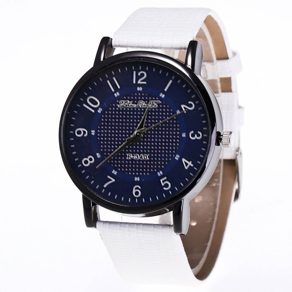 Fashion Quartz Watch Men Women Couple Casual Electronic Watch With PU Wrist Strap LL@17