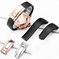 Ремешок для часов из силиконовой резины для часов с постоянным движением и космометром серии Ditonna 20 мм силиконовый ремешок