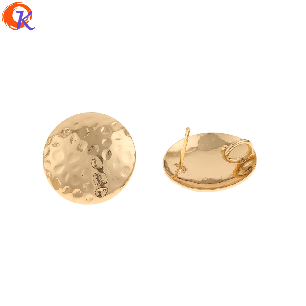 Cordial Design 50Pcs 20*20MM Jewelry Accessories/Earring Stud/Genuine Gold Plating/DIY Jewelry Making/Hand Made/Earring Findings