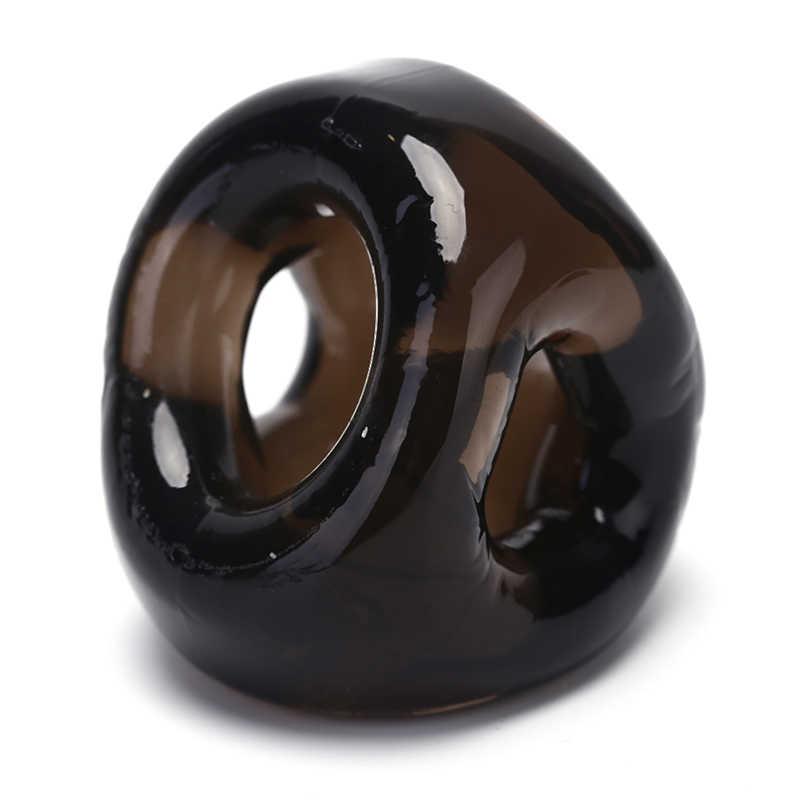 남성을위한 실리콘 페니스 링 섹스 토이 음낭 들것 지연 사정 성인 섹스 제품 수탉 케이지 남성 순결 장치