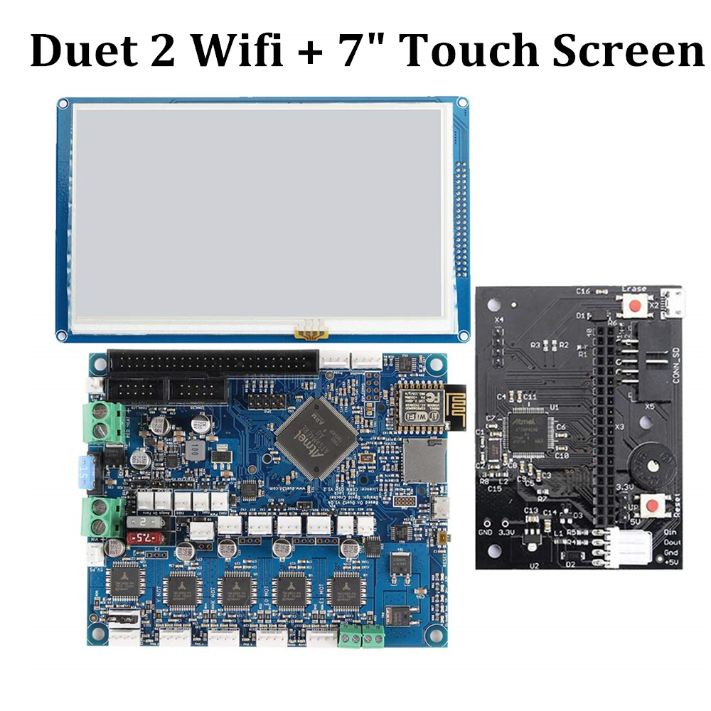 """Duet 2 Wifi V1.04 Board Cloned Duet2 Wifi 32 Bit Control Board With 5"""" 7"""" Panel Due Touch Screen for 3D Printer CNC Machine