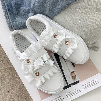 Obuwie damskie trampki damskie buty damskie buty wulkanizowane wiosna nowe koreańskie buty damskie na rzep buty damskie tanie i dobre opinie ICCLEK CN (pochodzenie) Szycia Stałe Dla dorosłych Mesh latex Wiosna jesień Mieszkanie (≤1cm) Hook loop Pasuje mniejszy niż zwykle proszę sprawdzić ten sklep jest dobór informacji