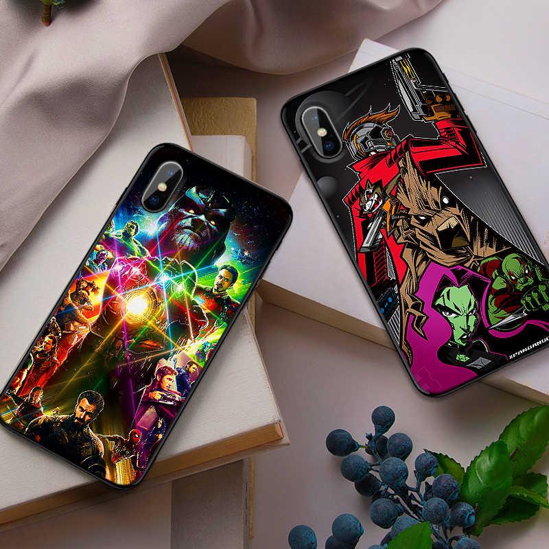 Чехол для мобильного телефона Galaxy Marvel s для iPhone X XS MAX XR 6 s 7 8 Plus, Модный мягкий силиконовый чехол на заднюю панель