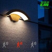 18w Moderna Sensore Ha Condotto La Lampada Da Parete Impermeabile Esterno Anteriore del Giardino Porta Portico Applique Da Parete Moderna Applique Da Parete Coperta di Luce di Illuminazione ZBW0013